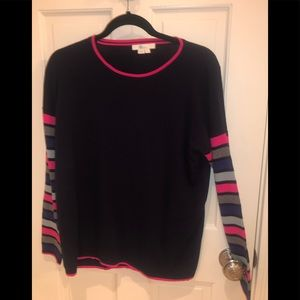 Striped sleeve, navy Boden sweater
